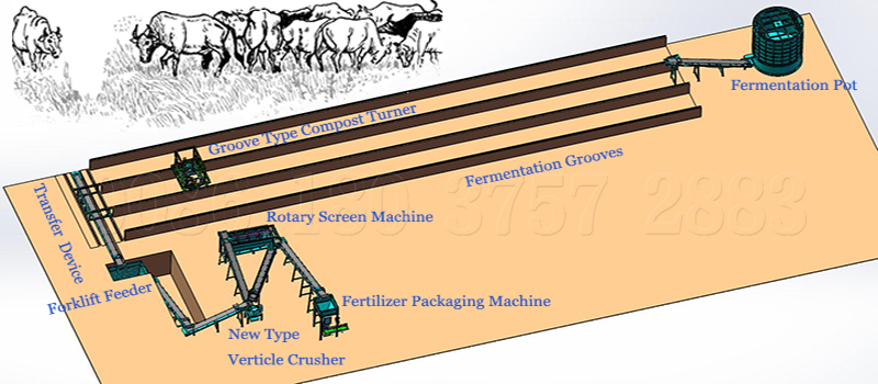 commercial cow dung powder making machine
